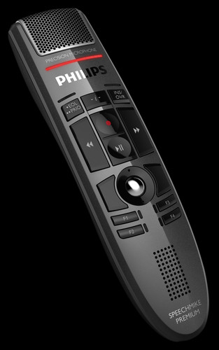 Optimal für das digitale Diktat in der Kanzlei: Philips Speechmike.