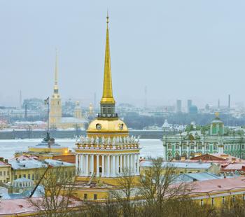 Goldene Dächer von St. Petersburg
